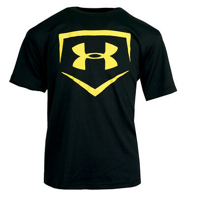 Under Armour Boys' CTG Chain Link Baseball T-Shirt Black/Yellow S