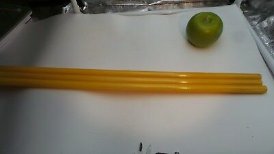 Authentic   OLD Golden yellow   Bakelite rods 14 mm 300  gram