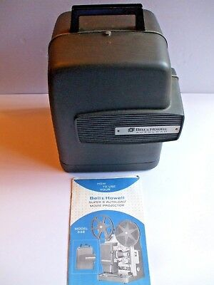 Vintage Bell & Howell Autoload 346A Super 8MM Film Projector