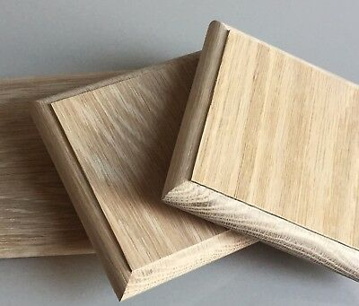 Solid Oak Newel Caps Fence Stair Decking Post Toppers Square Fit 90mm Posts