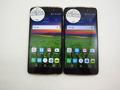 Lot of 2 Alcatel Idol 4 6055U Cricket Check IMEI Grade C 5-1311