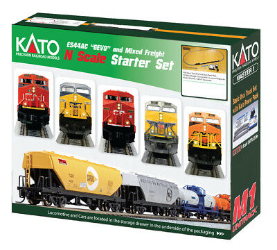 Kato 1060020 N Canadian National GE ES44AC GEVO Mixed Freight Starter Set