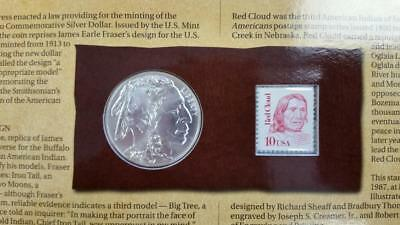 2001 American BUFFALO COIN AND CURRENCY Set  w/ 2001-d Buffalo Silver $1   L2010