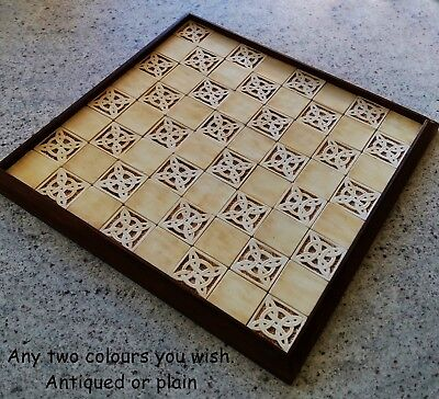 **handmade/hand Made Chess Board. Suits 'isle Of Lewis Chess Set'**