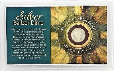 American Coin Treasures 1912 Silver Barber Dime - Minted 1892-1916