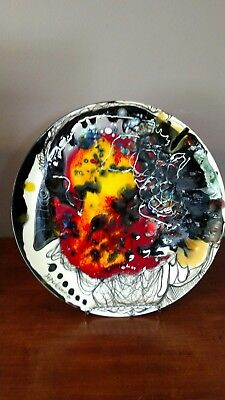 Vicente Dopico Lerner Ceramic Plate  Titled: Towards the End of the Millennium