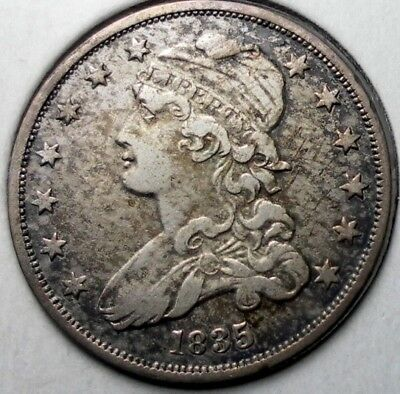 1835 25C Capped Bust Quarter Dollar Silver Coin Circulated Nice Condition