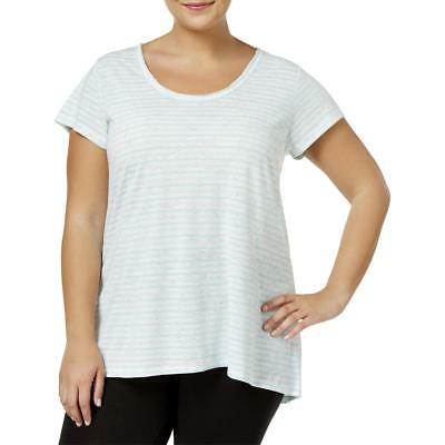 Calvin Klein Performance Womens Blue Pullover Top Athletic Plus 2X BHFO 0988