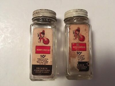 vintage Breaker Confections (pre-Willy Wonka Co.!) nonpareils sprinkles jars