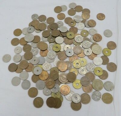 Assorted Lot of Japanese Yen Coins Spending Japan Exchange Money Currency