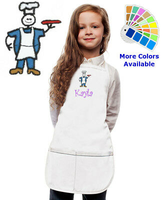 Personalized Kids Apron with Cook Chef Embroidery Design