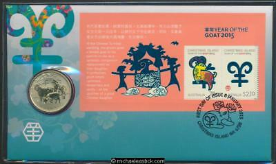 2015 Year of the Goat Postal Numismatic Cover