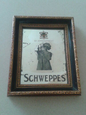 Awesome Antique By Appointment Schweppes Soda Water Bar Mirror Advertising Drink
