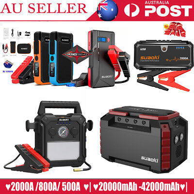 Suaoki 2000A Car Jump Starter Auto Battery Booster Emergency /155Wh Power Source
