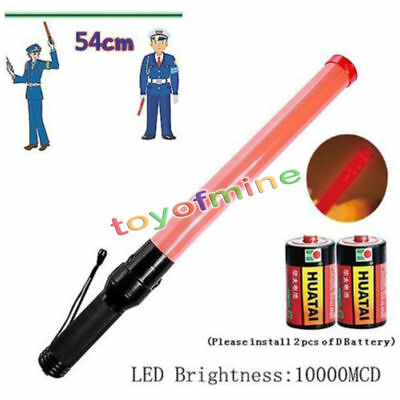 Hot Selling Red Traffic Control Road Safety Police LED Light Magnet Wand Batons
