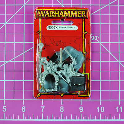 Warhammer Empire Wizards (Foot & Mounted) NIB Metal, OOP Games Workshop Citadel