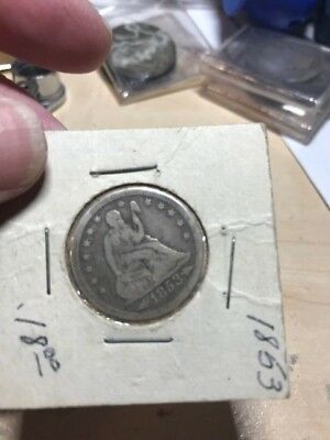 1853 P Arrows Rays Seated Liberty Silver Quarter Dollar