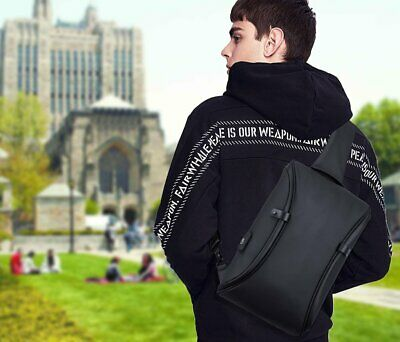 Waterproof Mens Shoulder Chest Bag Daily Sling Bags with USB Charging port Tote