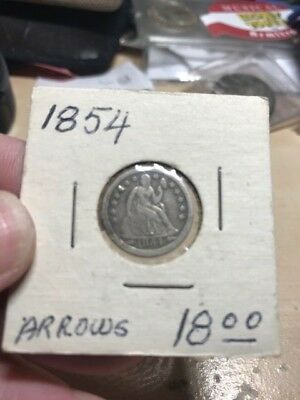 1854 Seated Liberty Silver Dime