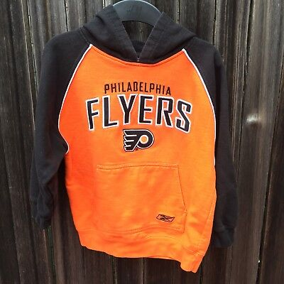 NHL Philadelphia Flyers Hockey Pullover Hoodie Youth Boy Girl Sz S Embroidered