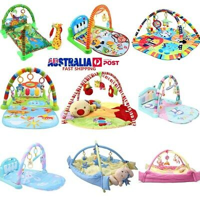 9 Type Baby Infant Lay Play Mat Activity Playmat Fitness Music Fun Piano Toy AU