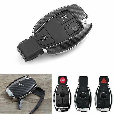 ABS Carbon Fiber Remote Key Cover Keyless FOB Shell Holder For Mercedes Benz