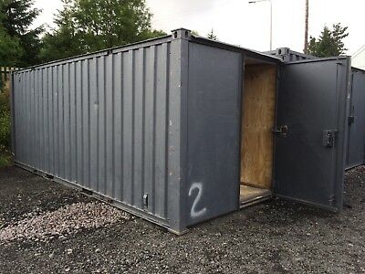 shipping container 20x8ft painted in dark grey ply lined out + insulated