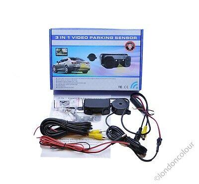 CISBO Video Parking Reversing Sensor Kit 3 in 1 One Camera Two Sensors Two LEDs