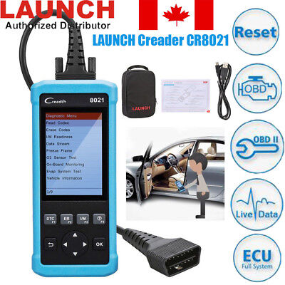 Launch CR8021 OBD2 Diagnostic Scanner Tool Oil TPMS BMS EPB ABS SRS DPF Reset