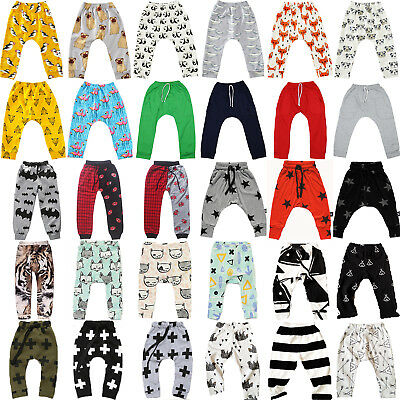Baby Casual Pants Kids Toddler Unisex Boys Girls Harem Bottoms Leggings Trousers