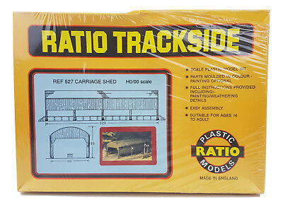 Ratio Trackside REF 527 Carriage Shed H0/00 Scale Plastic Model Kit - New