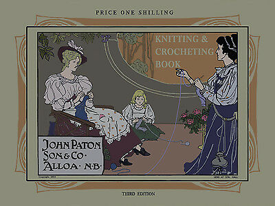 Paton's #3 c.1903 HUGE Pattern Book of Antique Knitting & Crochet Fashions