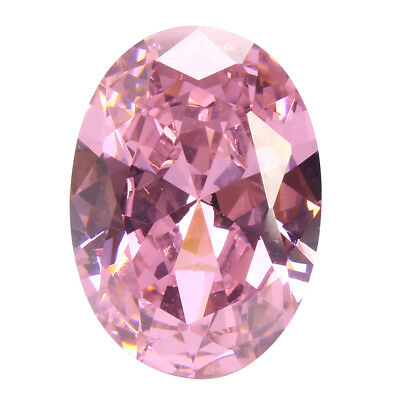 8x10mm AAA Rosa Palido Zafiros Naturales Oval 4.26ct VVS Loose Gemstone Diamante
