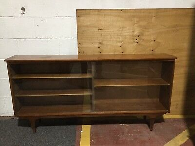 Vintage Retro Sideboard Circa 1970's with Glass Sliding Doors Upcycling Project