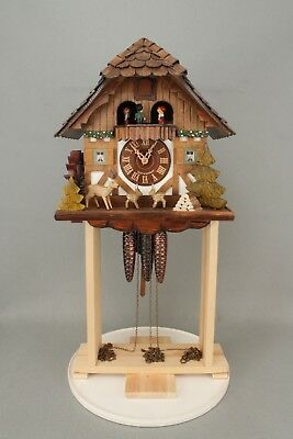 Musical Automaton Waterwheel Black Forest Wall Hanging Cuckoo Clock