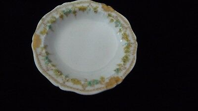 #410 vtg butter pat dish T Haviland Limoges France
