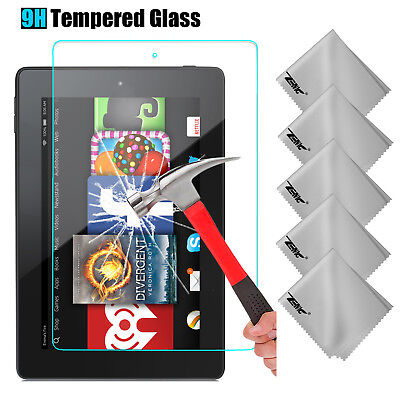 For Amazon Kindle Fire HD 7 2017 7th Gen 9H Slim Tempered Glass Screen Protector