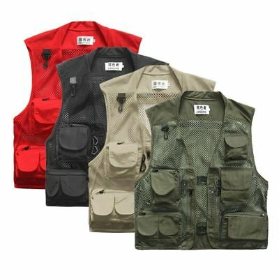 Outdoor Men's Vest Photographer Fishing Hunting Multi-Pocket Waistcoat Fashion