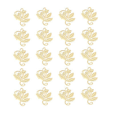 50PCS Gold Hollow Flower Filigree Hairpin Clips for Women Hair Accessories