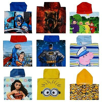 Boys Girls Kids Official Character Hooded Towel Poncho Beach Bath Swim Holiday