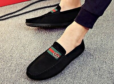 UK Mens Slip On Designer Loafers Driving Shoes Casual Moccasin Fashion Size NEW