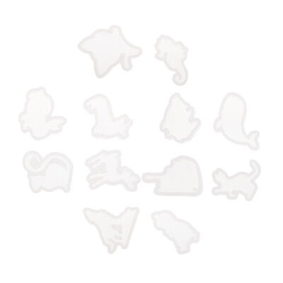 12x Animal Shape Silicone Soap Mould Craft Molds Jewelry Pendant Mold Tools