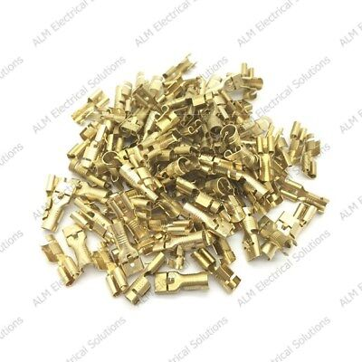 Brass 6.3mm Female Spade Terminals Connectors For Cable 2.5 - 6.0mm² - 1000 Pack
