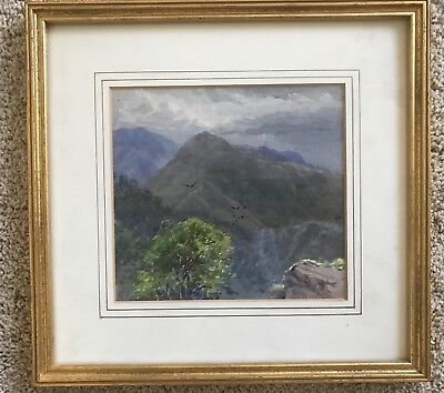 Original Vintage Early 20th c. Watercolor of Wilderness Landscape by JF Supple