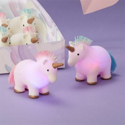Light Up Flashing Unicorn Squishy Stress Reliever Squeeze Toy - Colour Varies