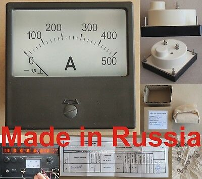 0-500A  DC ±1.5% 80x80mm Russia M42300 ammeter current meter amp analog panel