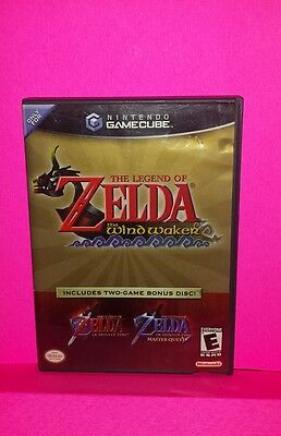 Legend of Zelda Wind Waker/Ocarina of Time/ Master Quest GAMECUBE COMPLETE