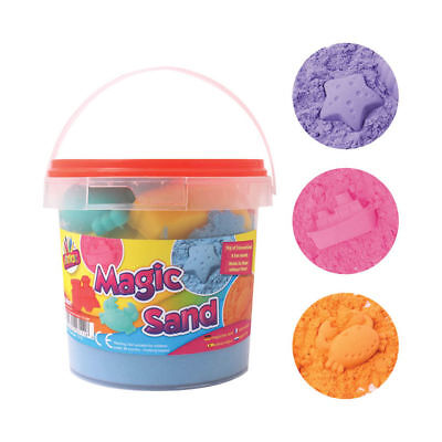 Magic Sand With Tools In Carry Tub - Children Playing Creating Games Tub Play