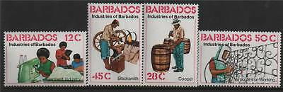 Barbados 1978 Industries SG 609/12 MNH