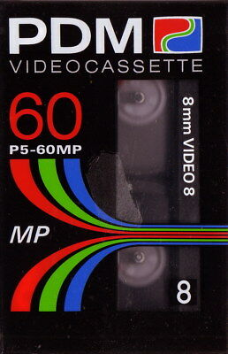 PDM Video8, 8mm Camcorder Kassette - 8mm Videocassette 60 min, Neu